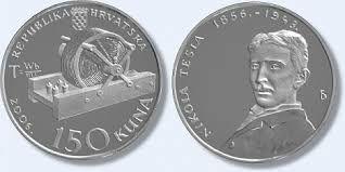 Nikola Tesla. Moneda de la República de Croacia. año 2006