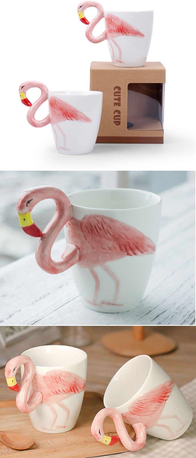Ceramic Flamingo Coffee Cup