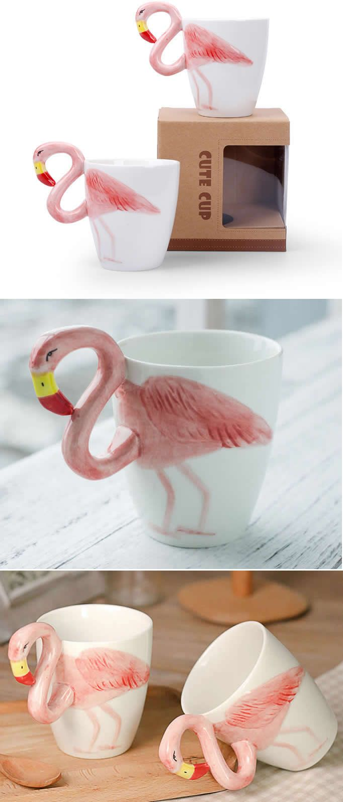 Ceramic Phoenicopteridae Coffee Cup