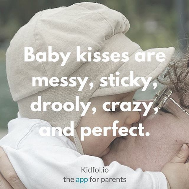 Oh how I miss those perfect messy, slobby baby kisses!!! My boy is too grown for all that mess now, but I sure remember those unforgettable moments! Best kisses ever!!