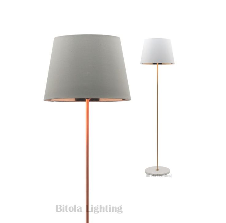 Kendall+Concrete+Floor+Lamp+-+White/Gold+or+Grey/Copper+Shade+-+Mercator+A31721, $189.00