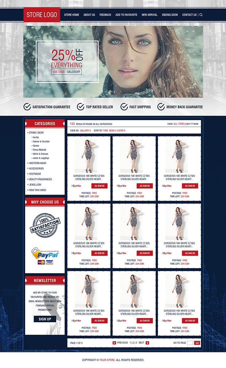 Excelente Plantilla Html De Ebay Gratis Ilustración Colección De - Ebay store html templates free