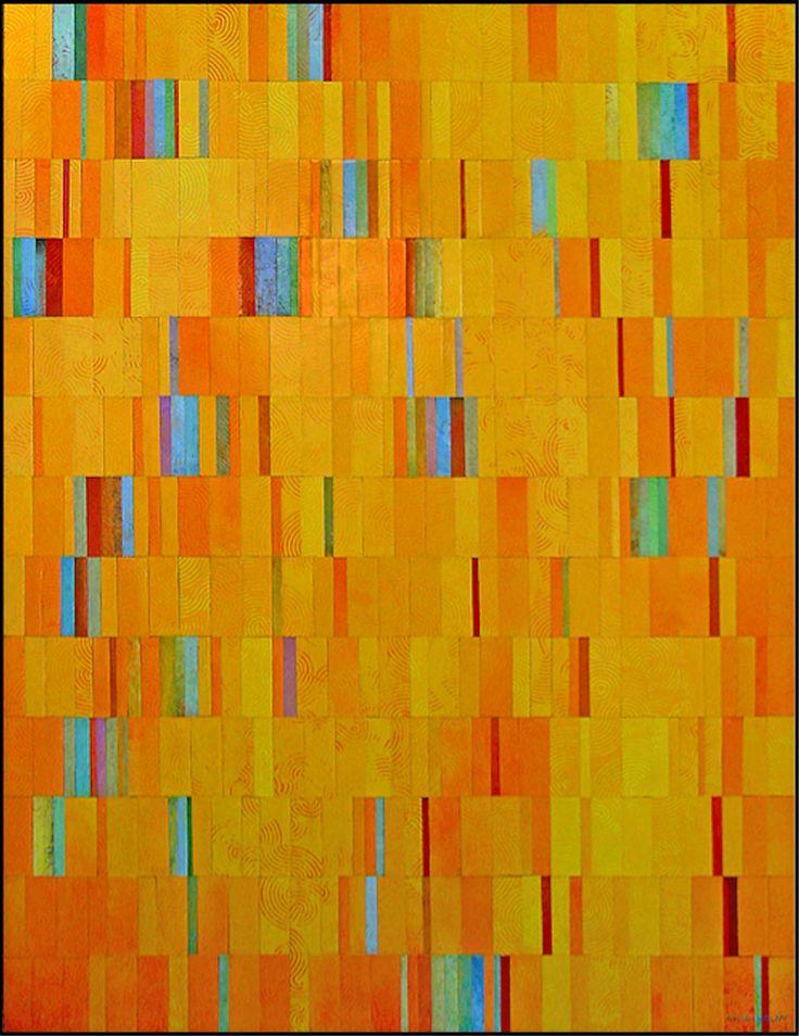"""""""un día de sol"""" collage, 170 x 130 cm"""