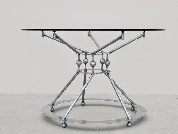 steel table base pedestal table base modern dining table dining table base round table base metal table base industrial - Pedestal Table Base