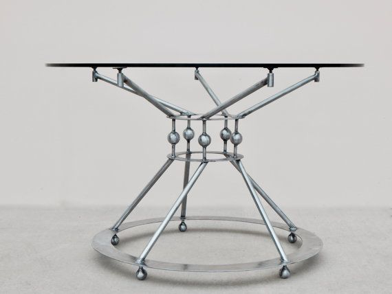 Steel Table Base, Pedestal Table Base, Modern Dining Table, Dining Table  Base, Contemporary, Round Table Base, Metal Table Base, Industrial