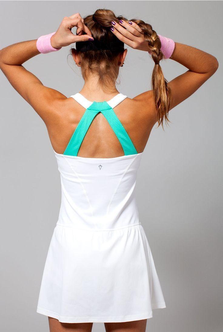 rule the court.   Match Point Dress   Tennis Dresses   Tennis Skirts   Tennis Ladies Apparel @ www.FitnessGirlApparel.com