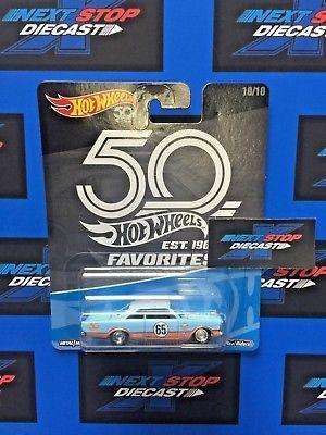 1:64 Hot Wheels 50th anniversary Favorites Real Riders Set 5 pcs