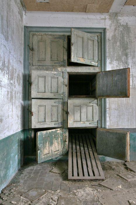 Abandoned Hospital Morgue, Ellis Island National Monument, New York Harbor, New York