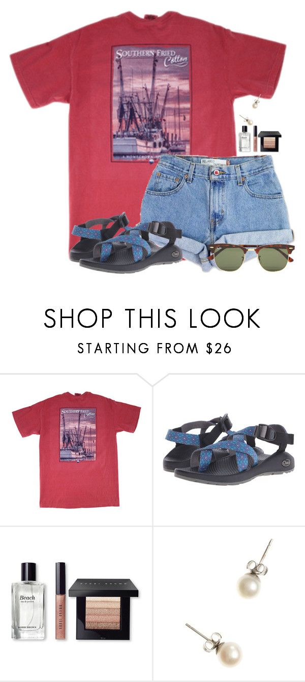 """""""~marvelous~"""" by flroasburn ❤ liked on Polyvore featuring Levi's, Chaco, Bobbi Brown Cosmetics, J.Crew and Ray-Ban"""