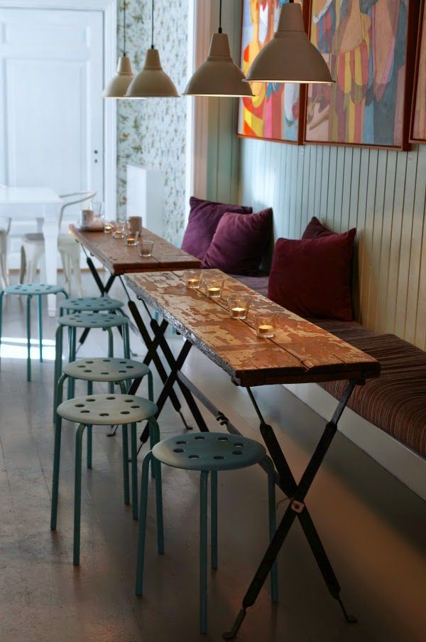 The Yellow Gallery (Det Gule Galleriet) coffee shop - Stavern, Norway: