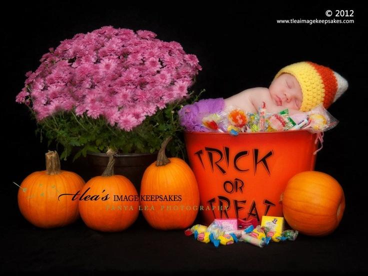 Halloween newborn -trick or treat