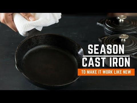 How to season a cast iron skillet  SImple and easy step by