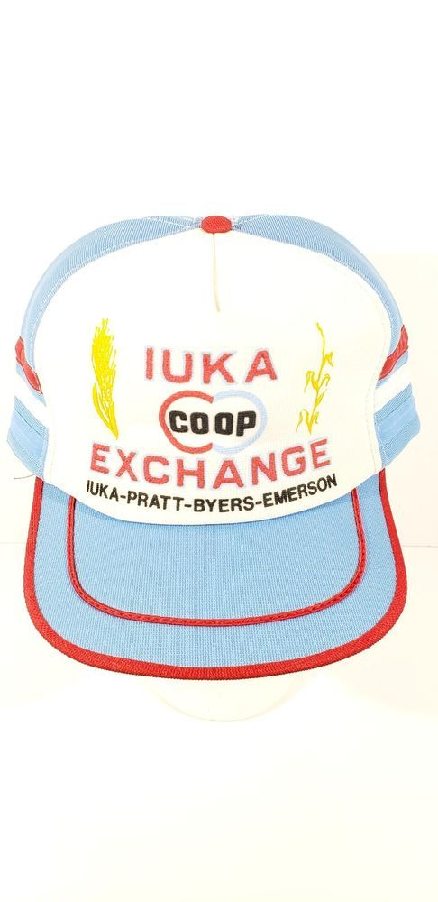 bd6ffa0213775a Vintage IUKA-Pratt-Byers-Emerson COOP Exchange Snapback Farm Trucker Hat  USA #fashion #clothing #shoes #accessories #mensaccessories #hats (ebay  link)