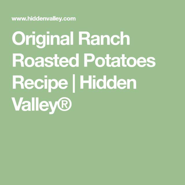 Original Ranch Roasted Potatoes Recipe   Hidden Valley®