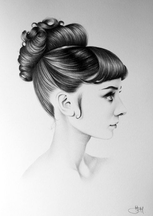Audrey Hepburn Fine Art Pencil Drawing Portrait by IleanaHunter, $15.99