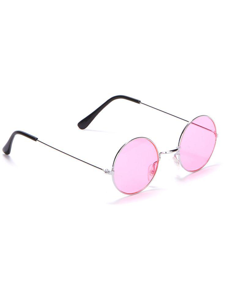 Gafas redondas de hippie para adulto: Estas pequeñas gafas de hippie para adulto de forma redonda están disponibles en seis colores: negro, marrón, azul, verde, rojo o rosa. Es el accesorio perfecto para dar el toque...
