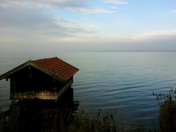 beautiful lake chiemsee near munich