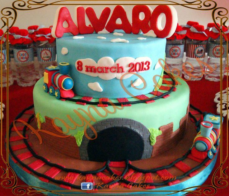 Raymond Alvaro's baby cake for his full month party.
