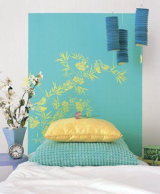 paredes decoradas con vinilo en rayas - Buscar con Google