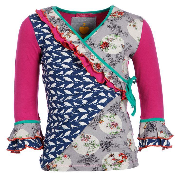 Bomba Overslagshirt Retro Birds, Kienk - leuk voorbeeld om zelf te naaien.