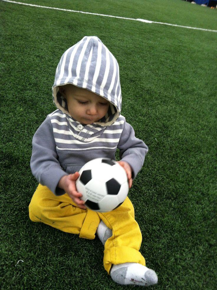 Braxton, baby photos, soccer ball, boys picture ideas, little boys