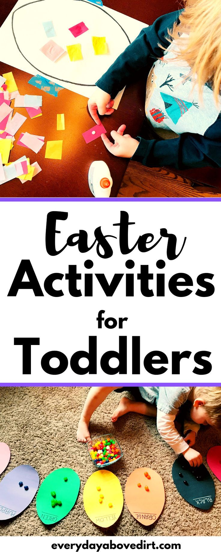 Easter activities for toddlers. Includes educational, sensory and fine moto …, #fine #inclusive # toddlers #oster activities