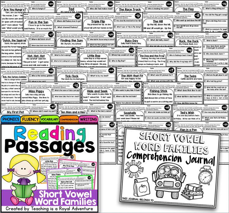 Free Phonics Reading Passages (Level 2)