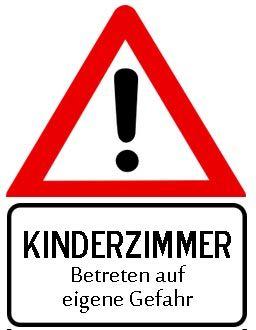 Achtung Kinderzimmer Türschild zum Ausdrucken (mit Bildern