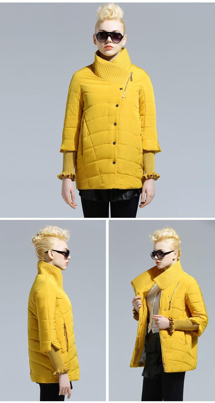 FOXQUEEN 2016 Весна Куртка Пальто новая женская коллекция Модель свободная Стойкий воротник  Большие размеры Куртка стильная женская Фирменный товар