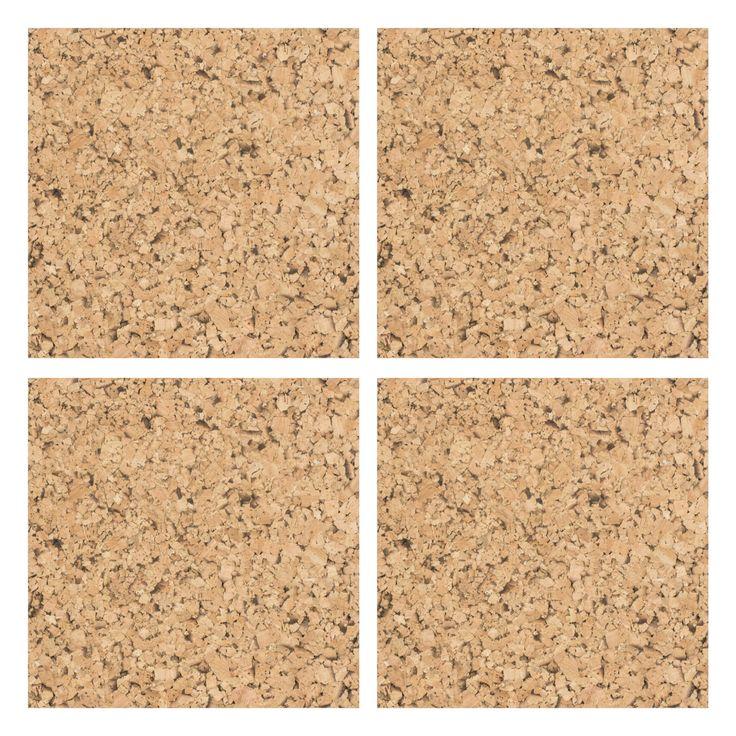 Self adhesive cork floor tiles