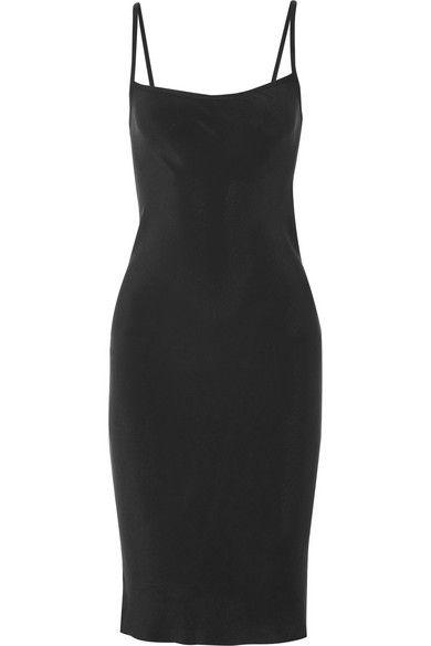 Black washed-silk Slips on 100% silk Dry clean