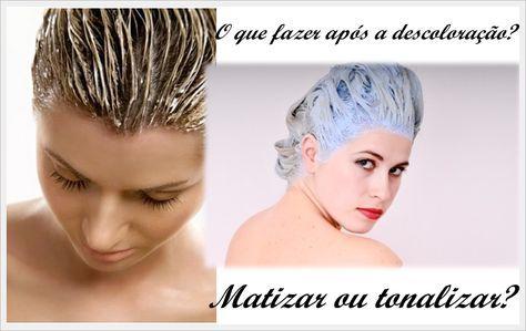 Matizar ou tonalizar os cabelos após descoloração