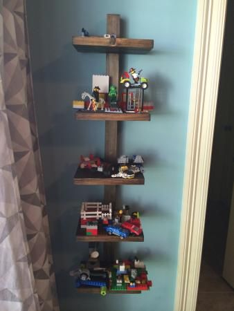 Lego display shelf | Do It Yourself Home Projects from Ana White                                                                                                                                                      More