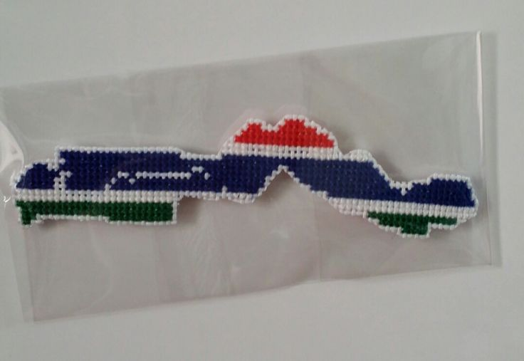 [ Gambia  flag map ]   *handmade item.   *Instant digital download: 1 PDF included.   *colors: 2 DMC colors.   *stitch count: 76w X 18h   *price: $2  ( Payment path = www.paypal.me/crossstitch )