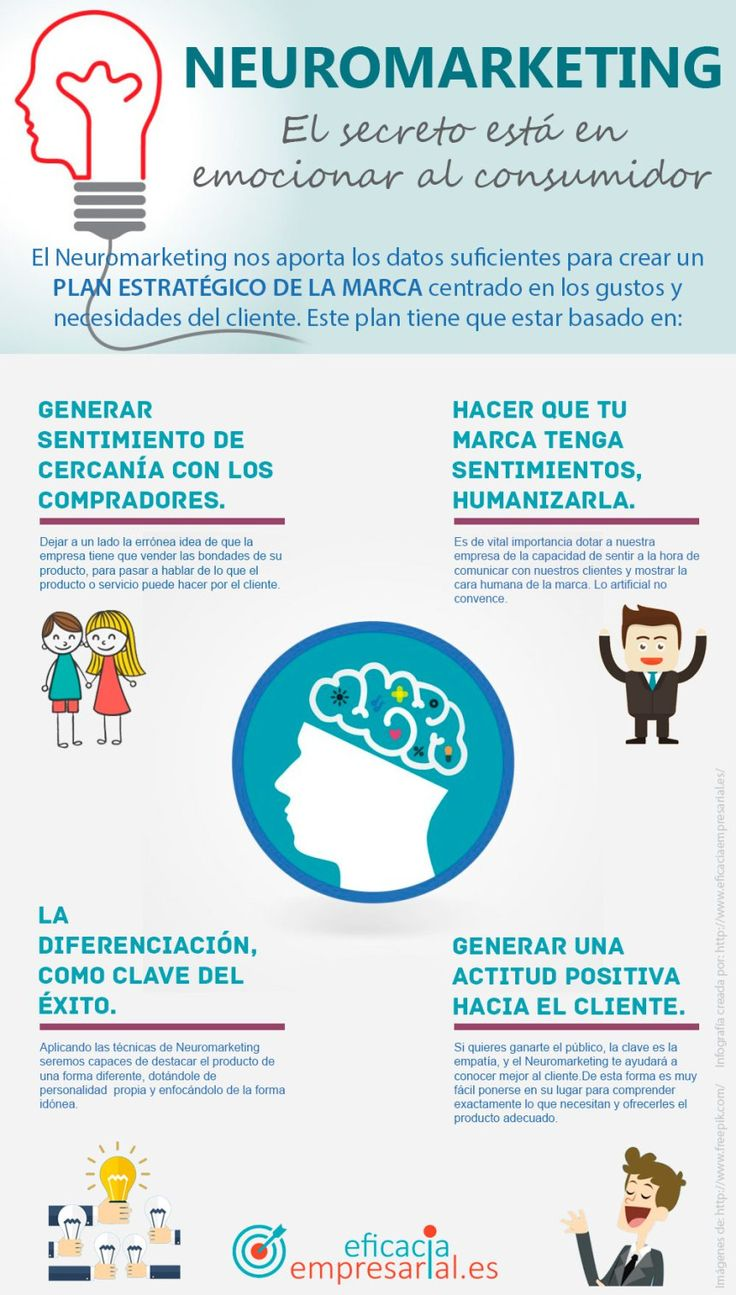 Neuromarketing: el secreto está en emocionar al consumidor #infografia #marketing
