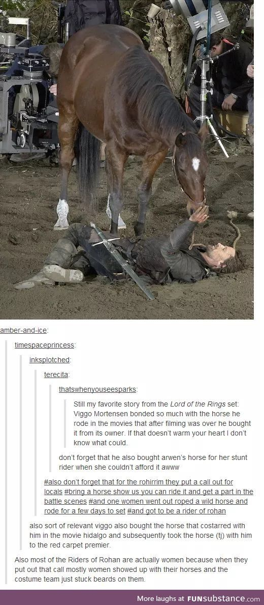 Horses! This! This is what I want! I don't care if I never get a big part, I just want to be the person who rides a horse!!