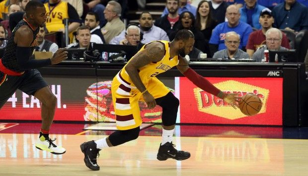 King LeBron James----Nobody can stop him on a fast brake. Too much power.