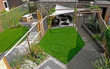 Moderne tuin in vathorst inrichting garden pinterest gardens met and modern - Landscaping modern huis ...
