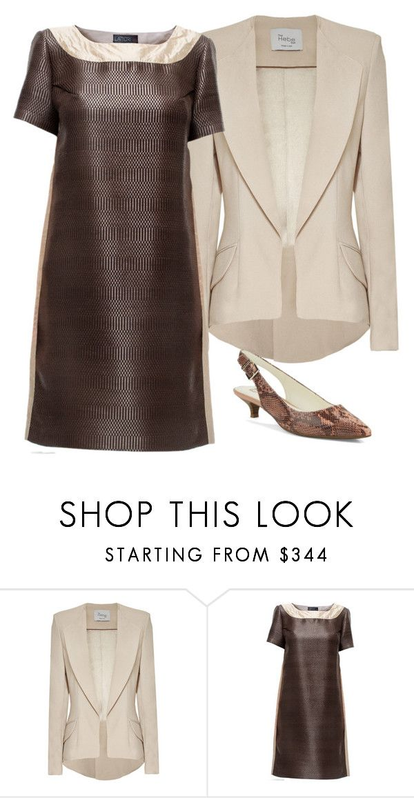 """""""From work to bar: Cocktail Hour"""" by brooklynbeatz ❤ liked on Polyvore featuring Hebe Studio, Lattori, Anne Klein, WorkWear, snakeskin and workoutfit"""