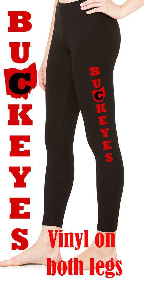 Buckeyes Leggings, OSU Leggings, Ohio State Leggings, Ohio State University Leggings, OSU by BandBBabytalk on Etsy