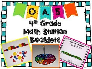FREE - This 4th grade booklet contains 23 pages of engaging hands-on activities…
