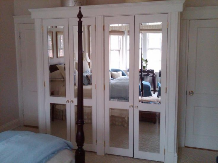 mirrored bifold closet doors | Furniture and Carpentry » ECS of Boston - Carpentry Re-modeling ...