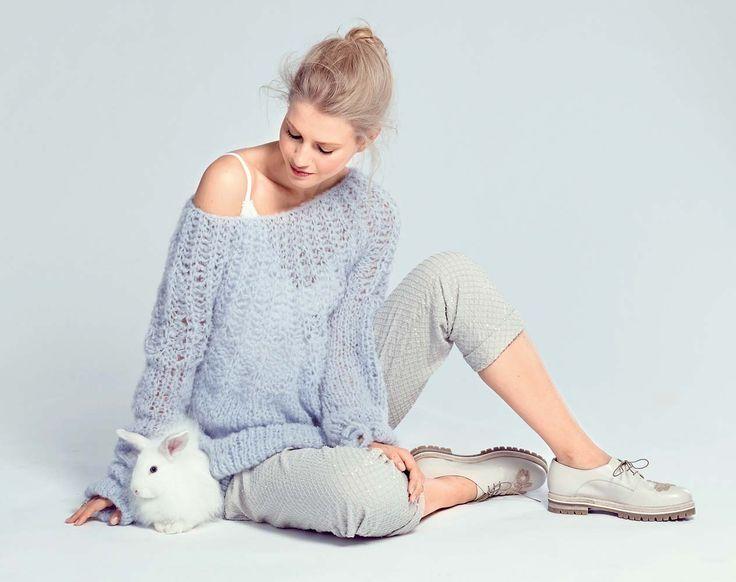 Джемпер с патентной кокеткой - схема вязания спицами. Вяжем Джемперы на Verena.ru