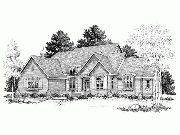 European House Plans Eplans French Country House Plan European Style Cottage