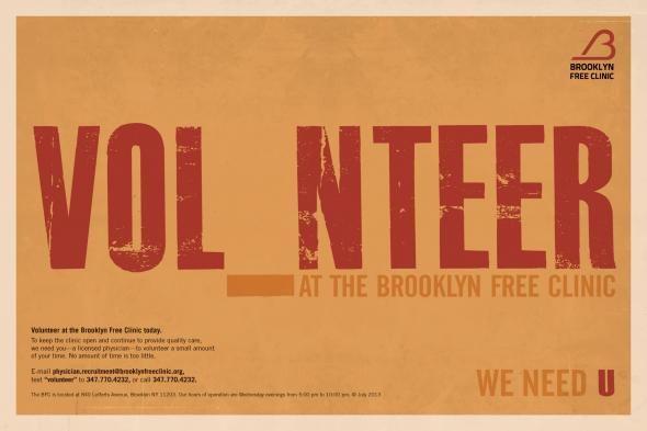 Love the concept; Vol_nteer (all we need is u). #volunteer #graphicdesign