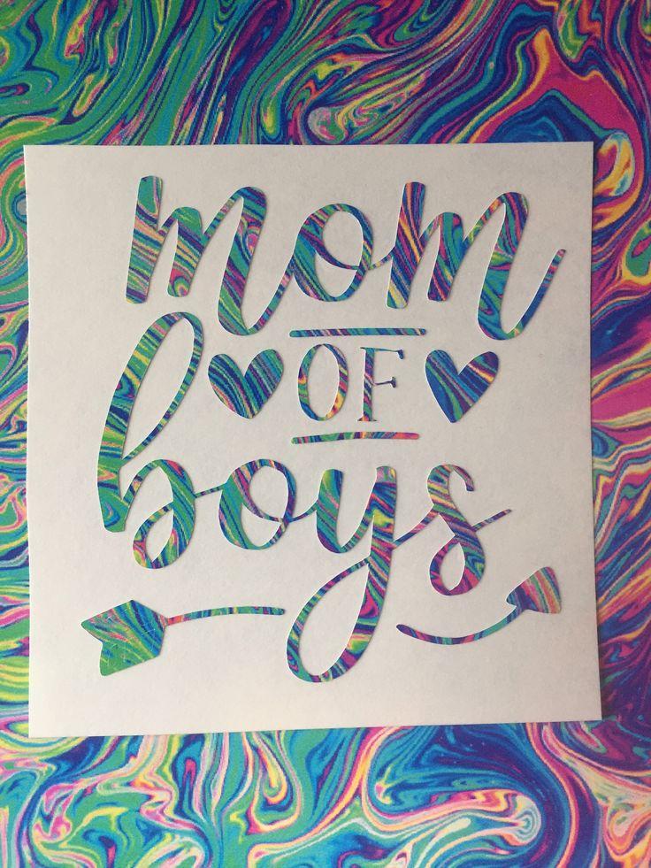 Mom of Boys/Girls Yeti/Car/Tumbler/Laptop Lilly Pulitzer Inspired Decal by CraftasticGiftsbyK on Etsy https://www.etsy.com/listing/527211157/mom-of-boysgirls-yeticartumblerlaptop