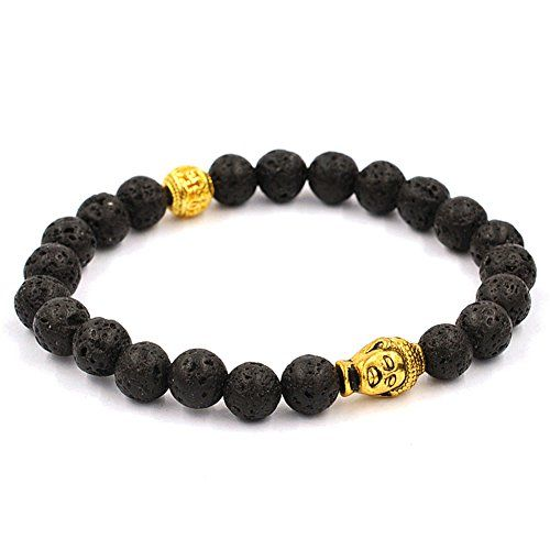 Koky Fashion Lava Stone Beaded Stretch Bracelet with Buddha Head Spacer (gold-plated-base) Koky http://www.amazon.com/dp/B017SRRH8A/ref=cm_sw_r_pi_dp_Iu.xwb1JKPVX9