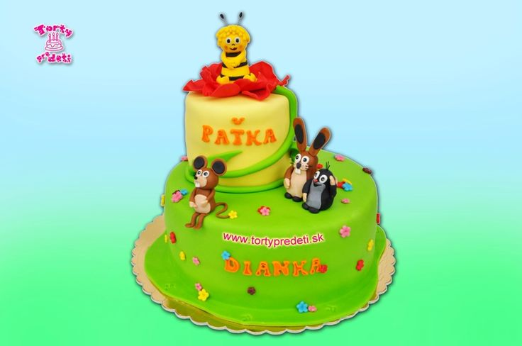 Torta krtko a priatelia, torty na 1 rok | Torty pre deti Žilina - detské, marcipánové, 3D, a iné torty na objednávku