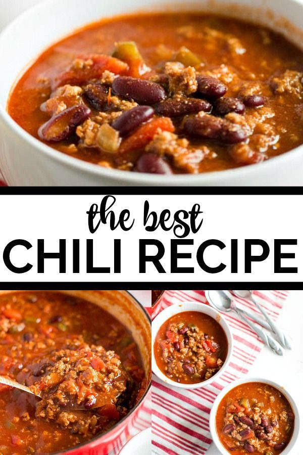 An Old Fashioned Chili Recipe Is The Best My Simple Recipe Combines Beef And Beans With A Robust To Best Chili Recipe Chili Recipes Old Fashioned Chili Recipe