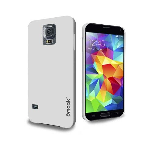 Smaak™ Sleek for Samsung Galaxy S5 -  Cloud White with Rubber Coating. For more info visit http://ismaak.com